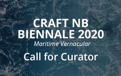Application pour commissaire d'exposition pour la biennale de Métiers d'art NB Maritime Vernaculaire